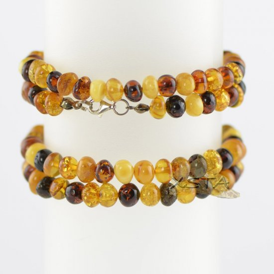 Multi color baroque bracelet beads with claps