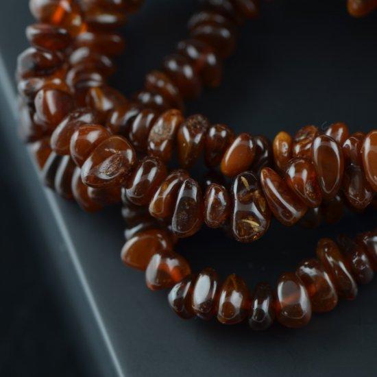 Amber dark medium oval natural bracelet