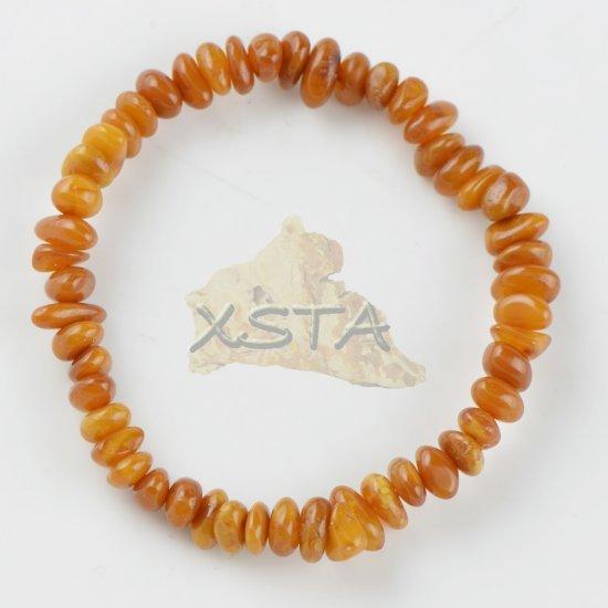 Amber medium light oval natural bracelet