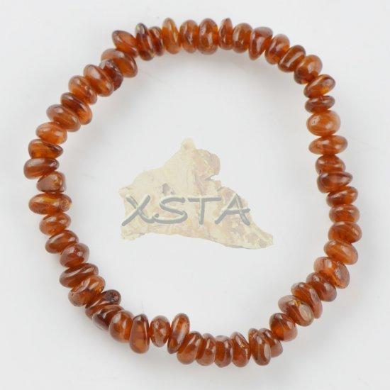 Amber medium oval natural bracelet