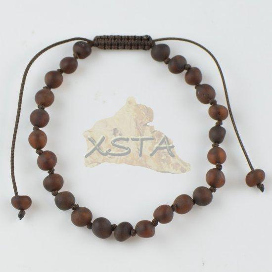 Womens adjustable amber bracelet cherry color
