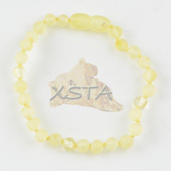 Amber bracelet baroque raw polished yellow