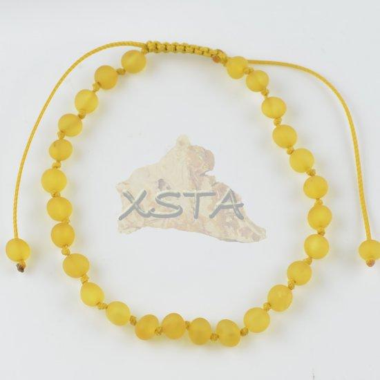 Womens adjustable amber bracelet raw honey color