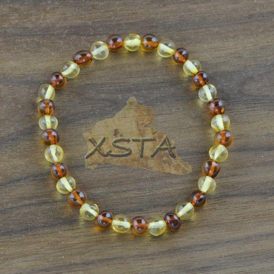 Amber baroque bracelet mix