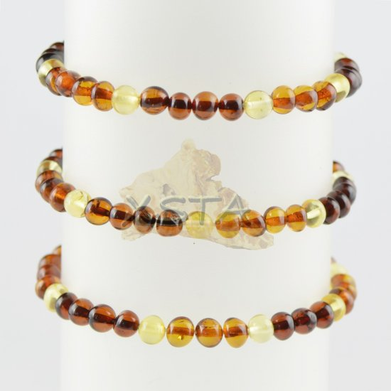 Genuine amber beads bracelet for adults new