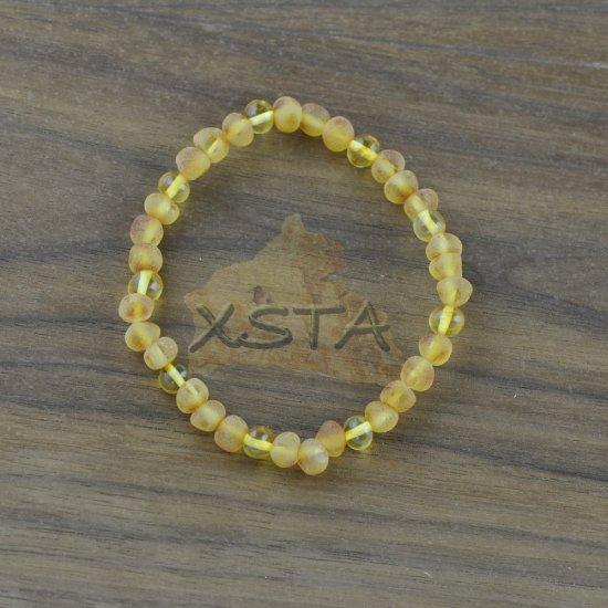 Amber raw honey beads bracelet Baroque