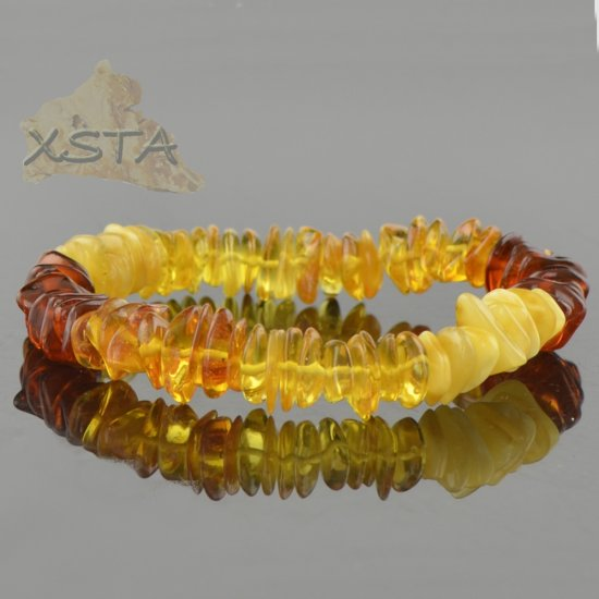 Amber bracelet chips style beads