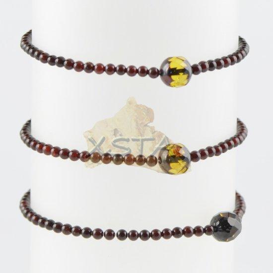 Amber bracelet Small bracelet cherry round