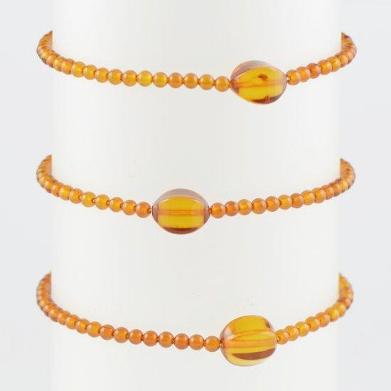 Amber bracelet Small bracelet cognac