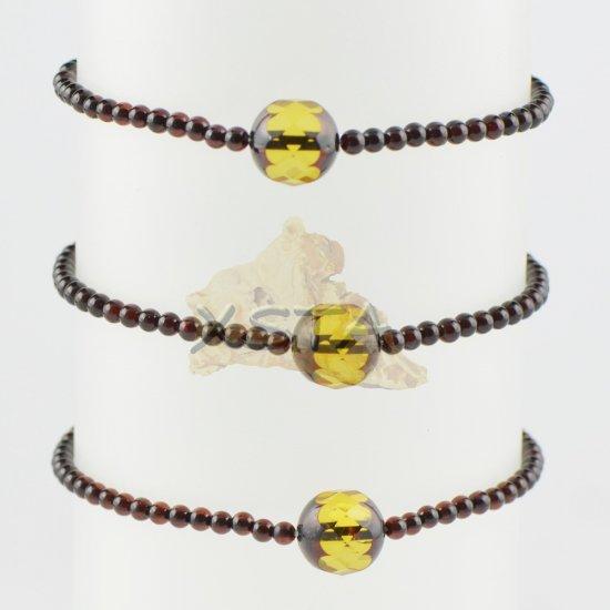 Amber bracelet Small bracelet cherry color