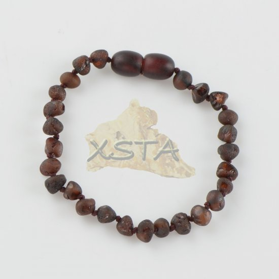 Baltic amber Teething bracelet raw cherry