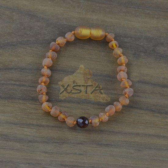 Amber Teething bracelet with round beads
