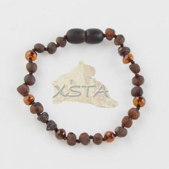 Baltic amber Teething bracelet raw polished