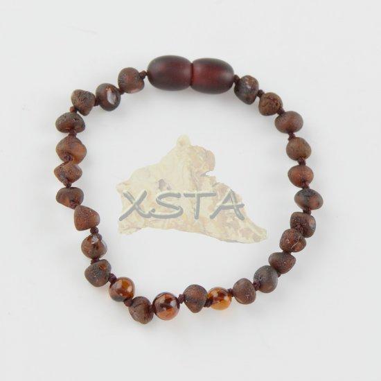 Baltic amber Teething bracelet raw polished beads