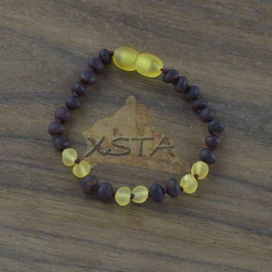 Amber teething bracelet cherry yellow beads