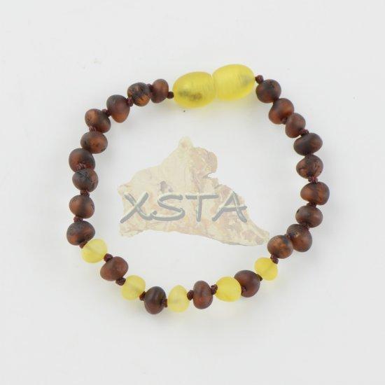 Amber teething bracelet with raw amber beads