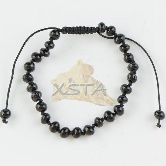 Adjustable teething bracelet black color