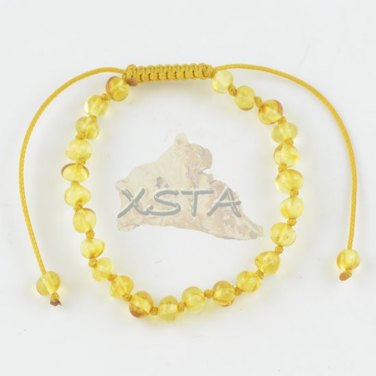 Adjustable teething bracelet yellow color