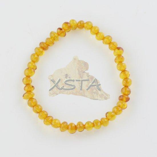 Amber teething bracelet tiny beads