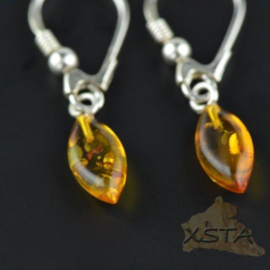 Cognac color earrings