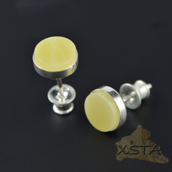 Stud Baltic amber earrings