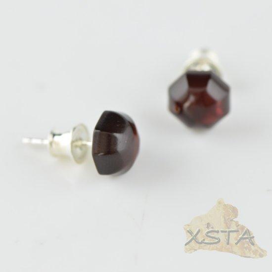 Amber stud earrings