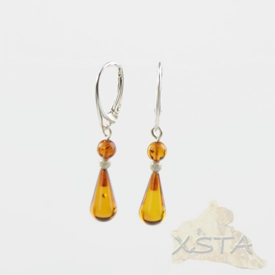 Baltic amber earrings with sterling silver 925