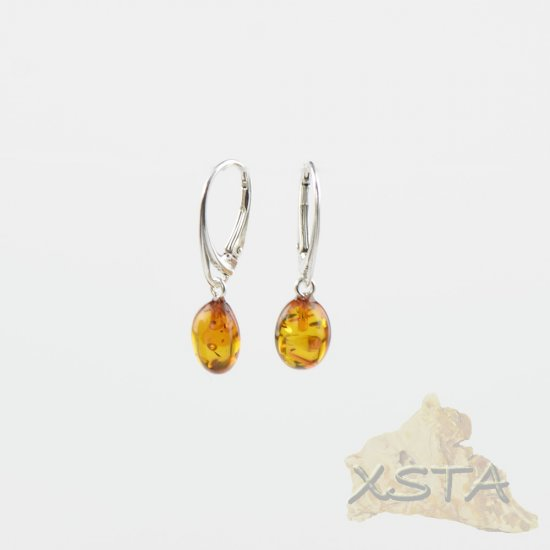 Baltic amber earrings with silver 925