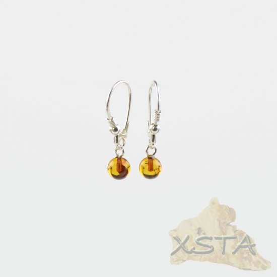 Amber earrings with sterling silver 925