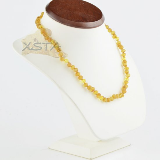 Amber necklace for adults raw light beads