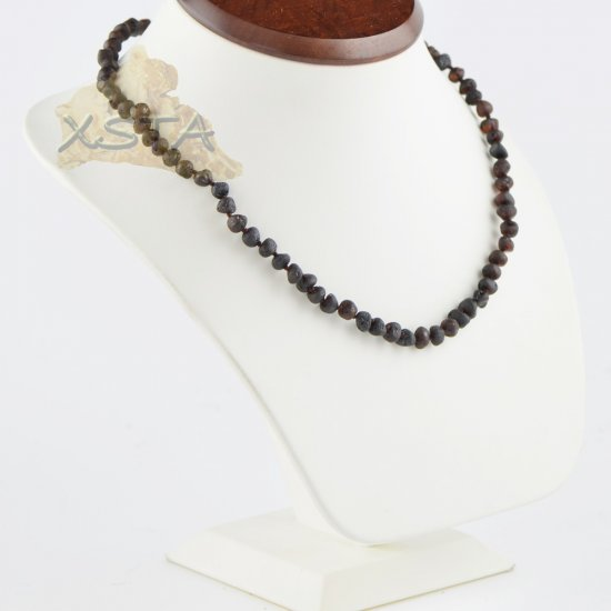 Amber necklace for adults raw amber dark cherry