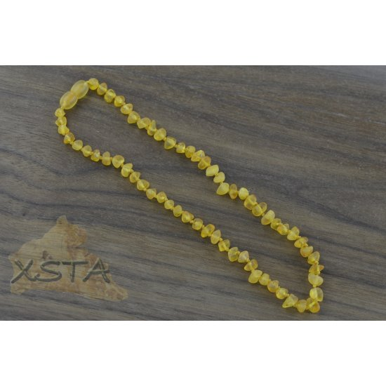 Amber babies necklace with raw honey beads