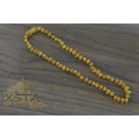 Amber baby necklace with raw amber beads