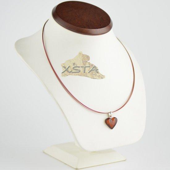 Dark cherry pendant on wire