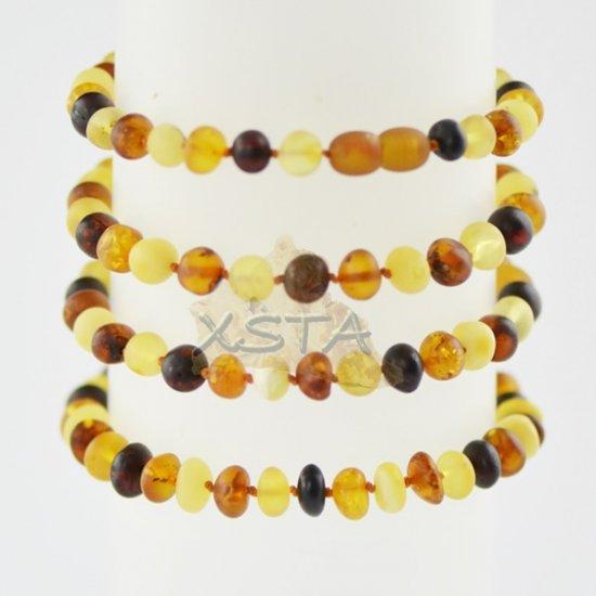 Baltic amber bracelet for men 21 cm