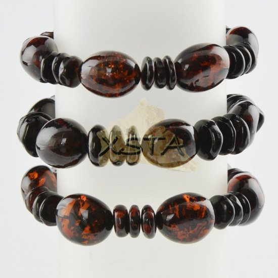 Baltic amber cherry color beads bracelet
