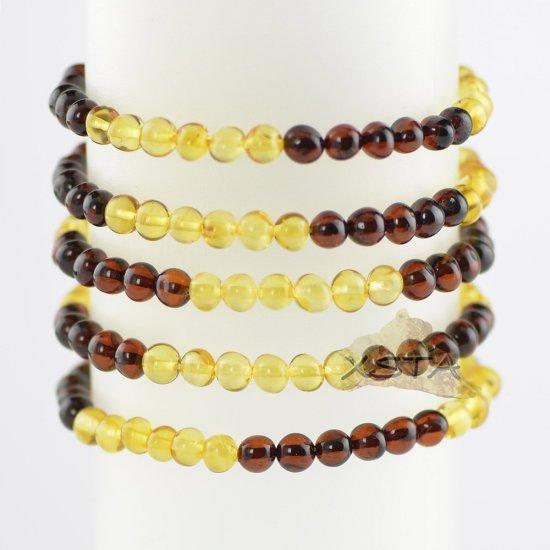 Baroque honey and cherry bead bracelet