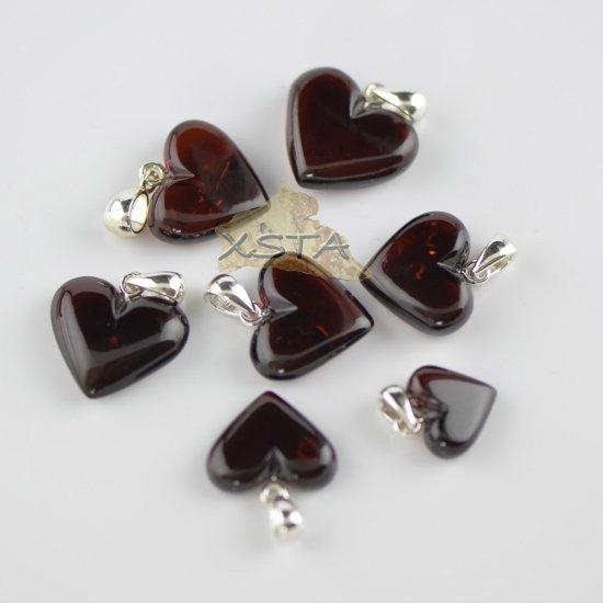 Cherry polished hearts pendant