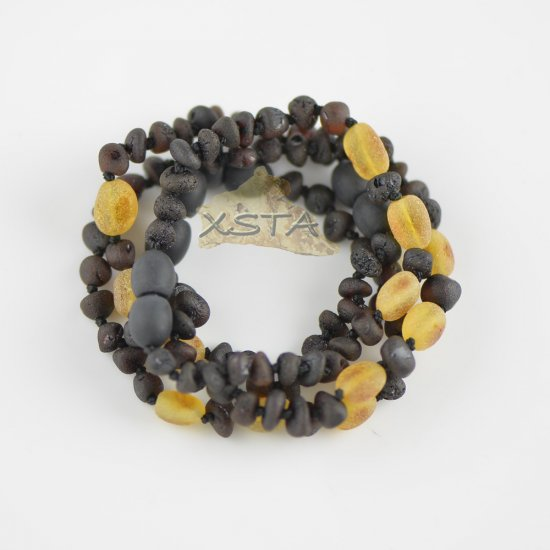 Raw dark cherry with olive beads bracelet