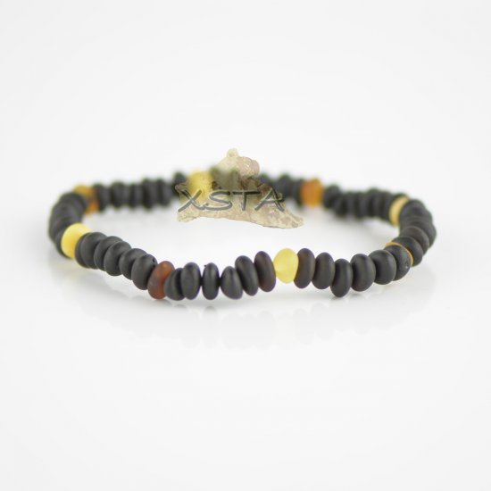 Raw multicolored beads bracelet