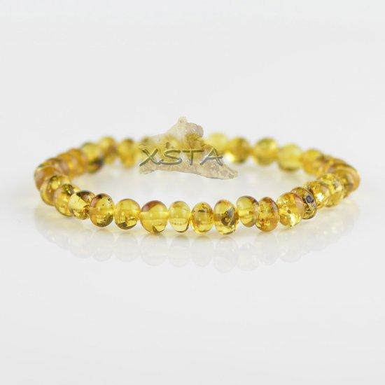 Polished light green baroque beads bracelet