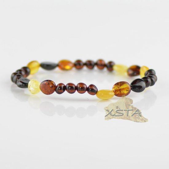 Multi color mixed beads bracelet