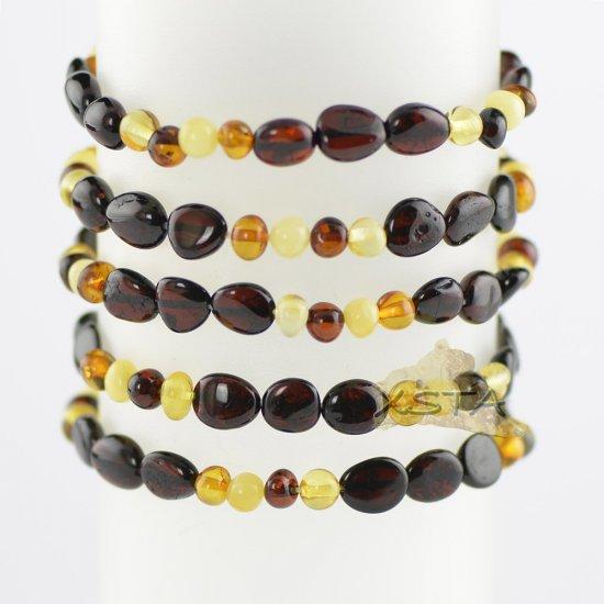 Mixed bead multi colored bracelet