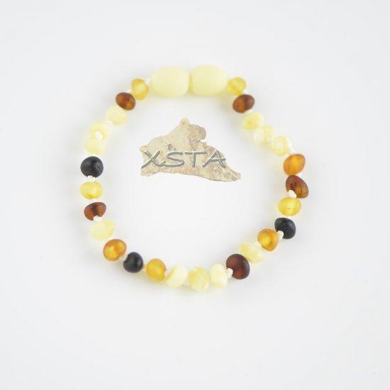 Raw baroque multicolored beads bracelet