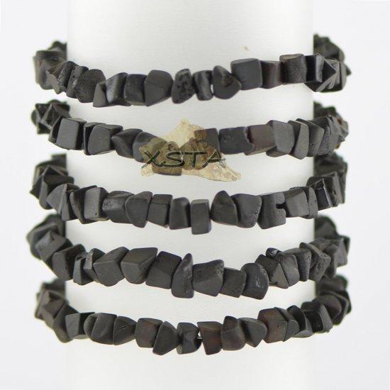 Raw dark cherry irregular bracelet for men