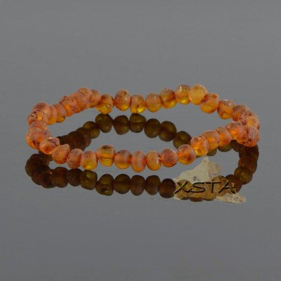 Raw cognac new style amber bracelet