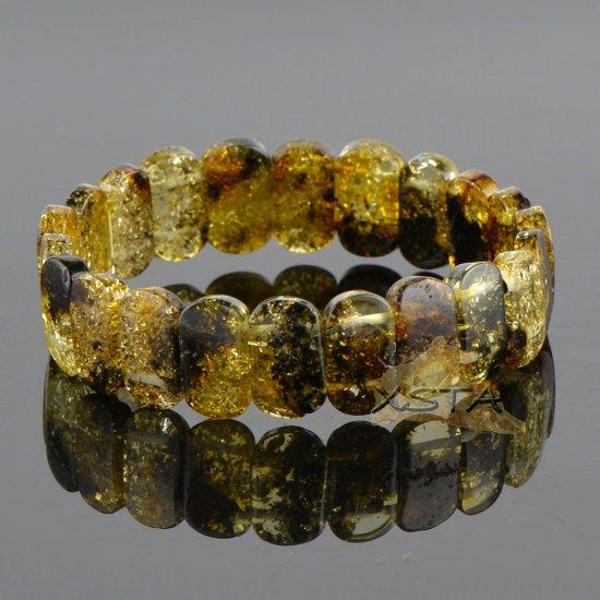 Classic light green bracelet from amber beads