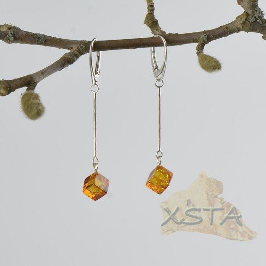 Wholesale cognac amber earrings