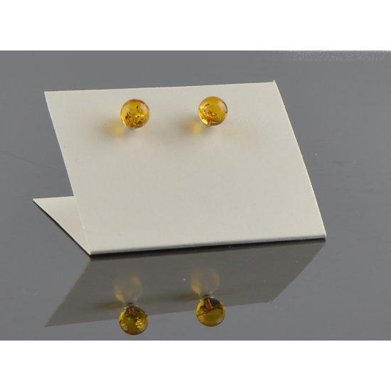 Round stud earrings light cognac