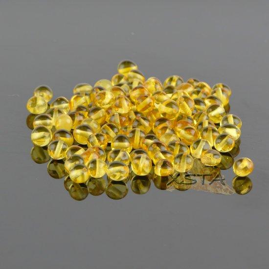 Polished baroque  honey amber beads 6-7 mm